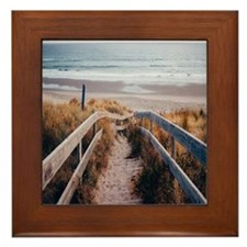 Walk To The Beach Framed Tile