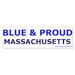 Blue and Proud: Massachusetts Items Sticker (Bumpe