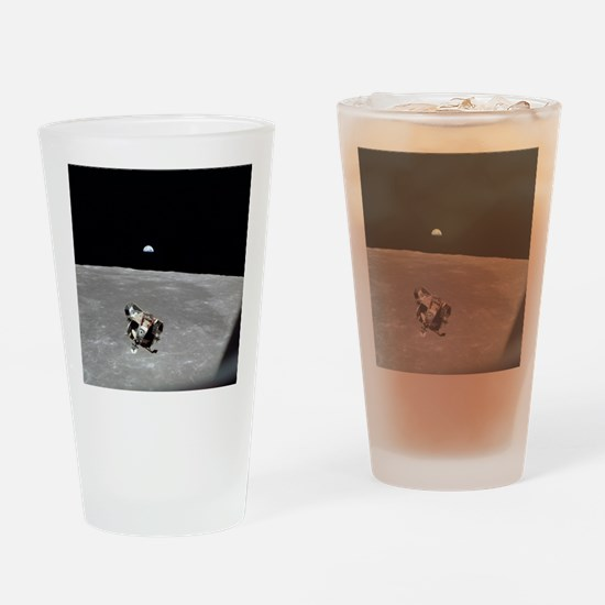 Unique Lunar landing Drinking Glass