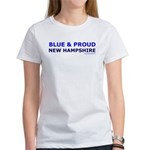 Blue and Proud: New Hampshire Items Women's T-Shir