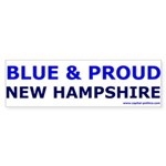 Blue and Proud: New Hampshire Items Sticker (Bumpe