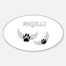 Angel Pet Paws Decal