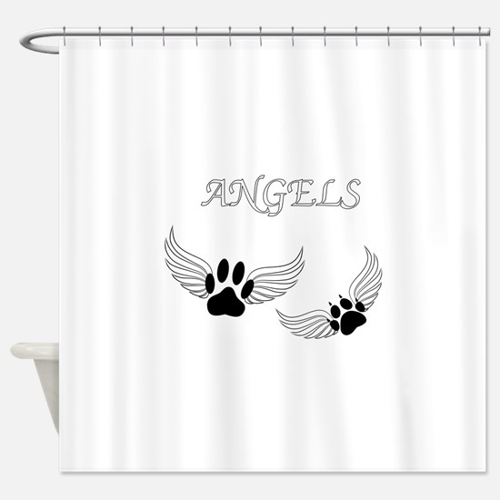 Angel Pet Paws Shower Curtain