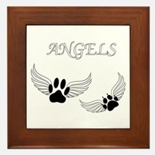 Angel Pet Paws Framed Tile