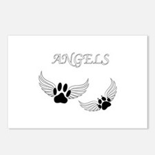 Angel Pet Paws Postcards (Package of 8)