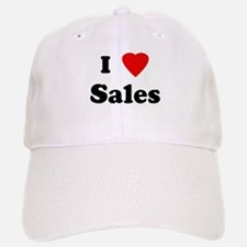 I Love Sales Baseball Baseball Cap