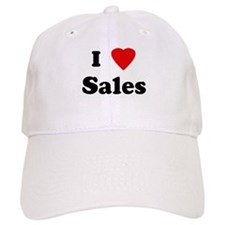 I Love Sales Baseball Cap