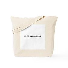 free armadillos Tote Bag