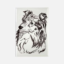 Shetland Sheepdog Rectangle Magnet (10 Magnets
