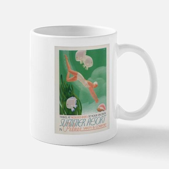 Vintage poster - Summer resort Mugs