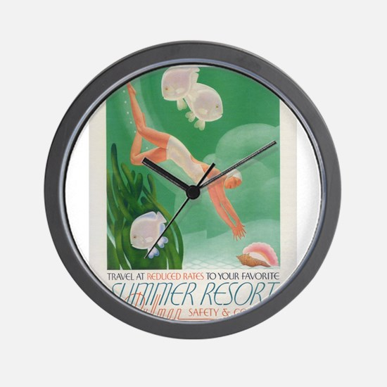 Vintage poster - Summer resort Wall Clock