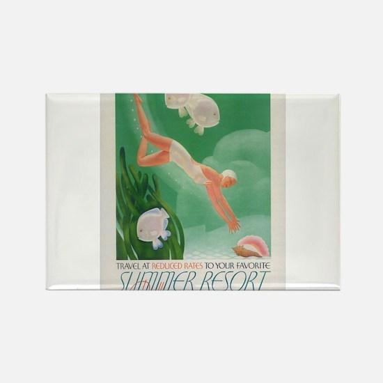 Vintage poster - Summer resort Magnets