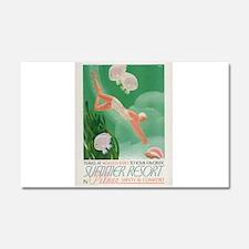 Vintage poster - Summer resort Car Magnet 20 x 12