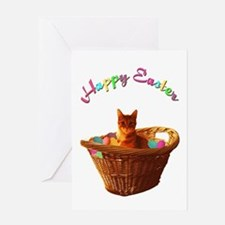 Easter Cat Greeting Cards