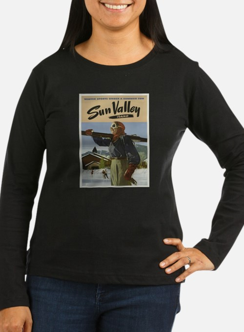 Vintage poster - Sun Valley Long Sleeve T-Shirt