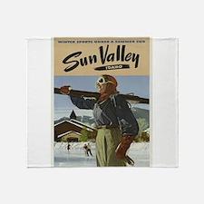 Vintage poster - Sun Valley Throw Blanket