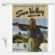 Vintage poster - Sun Valley Shower Curtain