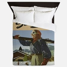 Vintage poster - Sun Valley Queen Duvet