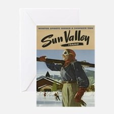 Vintage poster - Sun Valley Greeting Cards