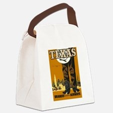Vintage poster - Texas Canvas Lunch Bag