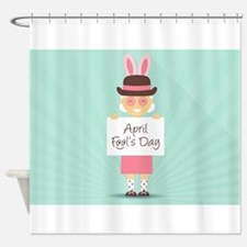 april fools day Shower Curtain