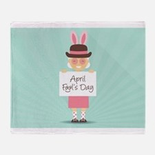 april fools day Throw Blanket
