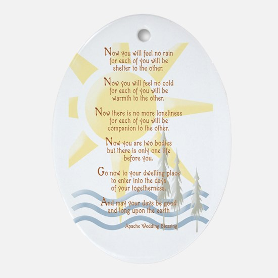 Apache Wedding Blessing Oval Ornament