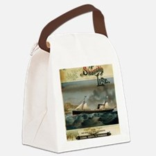 Cute Wpa travel vintage retro Canvas Lunch Bag