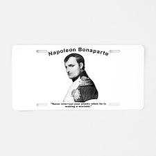 Napoleon Mistake Aluminum License Plate