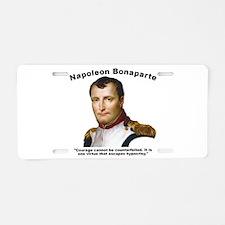 Napoleon Courage Aluminum License Plate