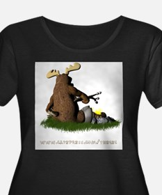 campfiremoose2back Plus Size T-Shirt