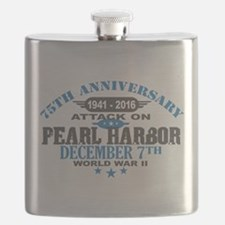 75th Anniversary attack on Pearl Harbor Flask