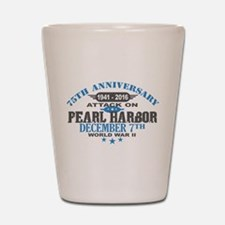 75th Anniversary attack on Pearl Harbor Shot Glass