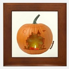 Haunted O'Lantern Framed Tile