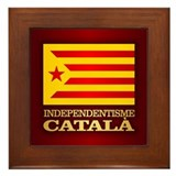 Catalonia flag Framed Tiles