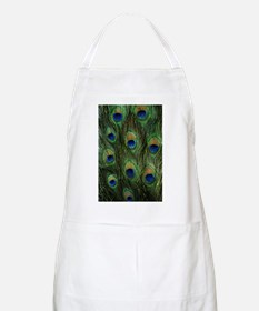 Peacock feathers on a BBQ Apron