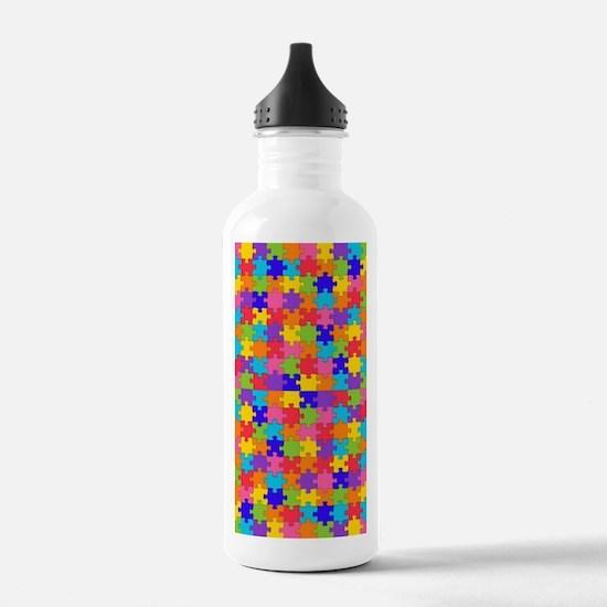 Cute Autistic advocacy Water Bottle