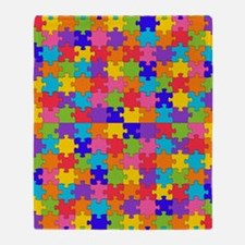 Cute Autism awareness Throw Blanket