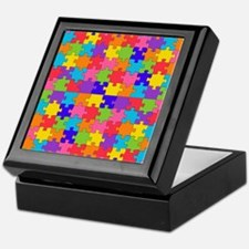 autism puzzle Keepsake Box