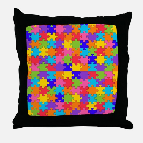 autism puzzle Throw Pillow
