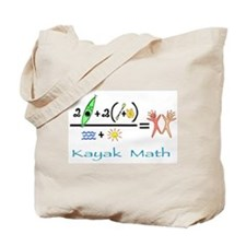 Kayak Math Tote Bag