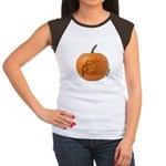 Owl O'Lantern Women's Cap Sleeve T-Shirt