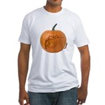 Owl O'Lantern Fitted T-Shirt