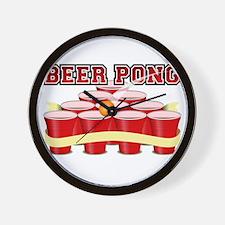 beer pong legend Wall Clock