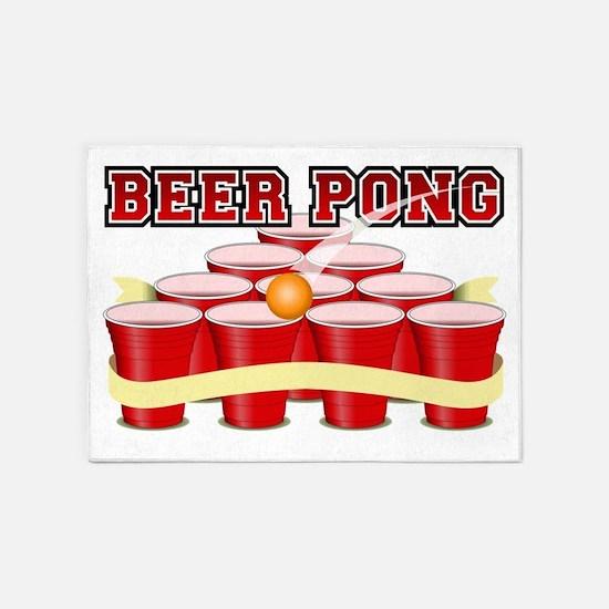 beer pong legend 5'x7'Area Rug