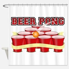 beer pong legend Shower Curtain