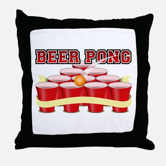 beer pong legend Throw Pillow