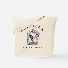 Cute Men yoga Tote Bag