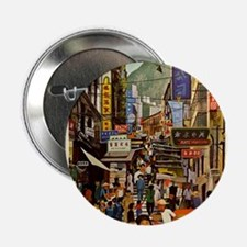 "Vintage poster - Hong Kong 2.25"" Button (100 pack)"