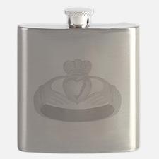 silver claddagh ring Flask